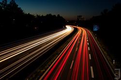 Langzeitbelichtung der Autobahn, Erlangen