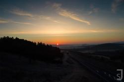 Sonnenuntergang Autobahnzubringer, Bad Neustadt