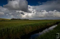 Bachlauf im Feld, Saknt Peter-Ording, Nordsee