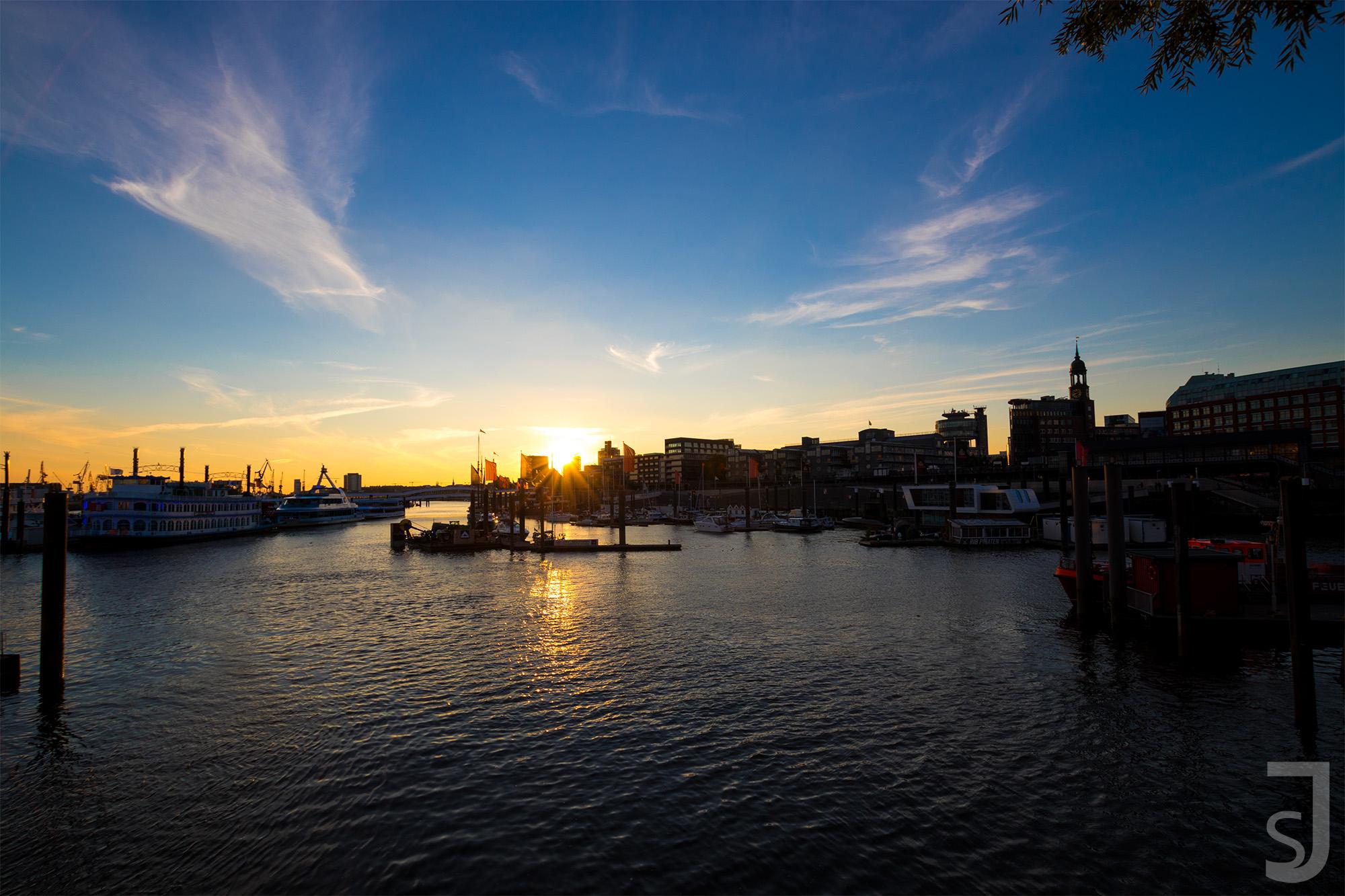Sonnenuntergang Hafen (Sonne), Hamburg