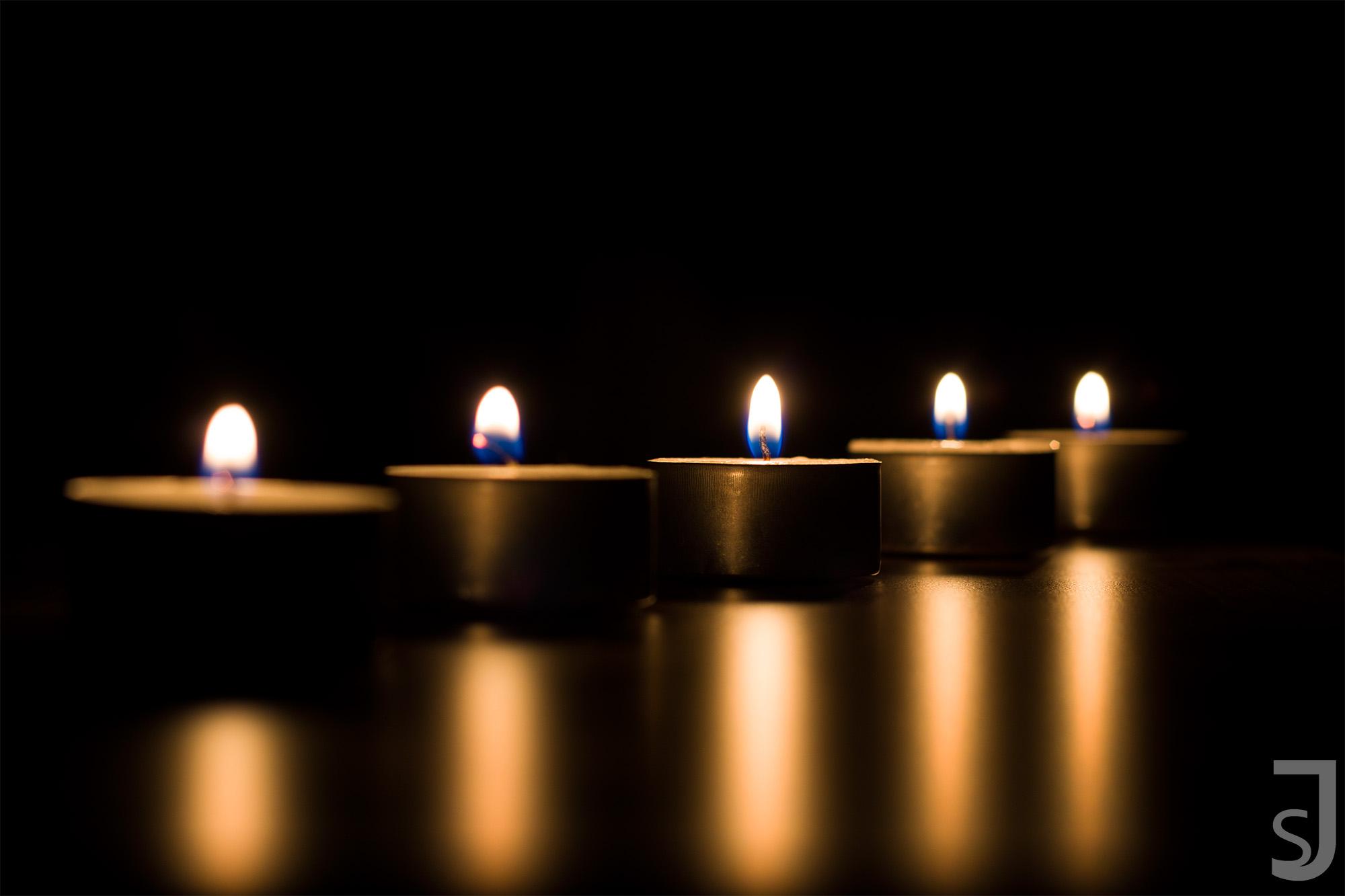 fünf Kerzen (seitlich)