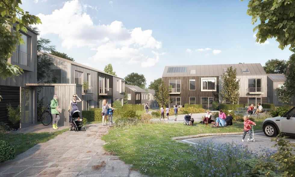 Skademosen residential houses Copenhagen