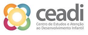 Ícone de flor nas cores rosa, laranja, azul, verde e amarelo com o nome Ceadi