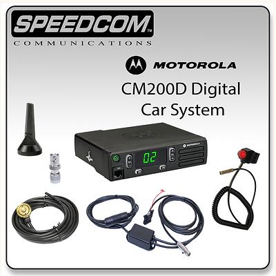 Motorola CM200D Digital Mobile System Racing Radios Antenna PTT