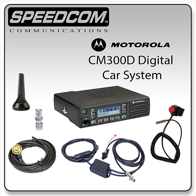 Motorola CM300D Digital Mobile System Racing Radios Communication