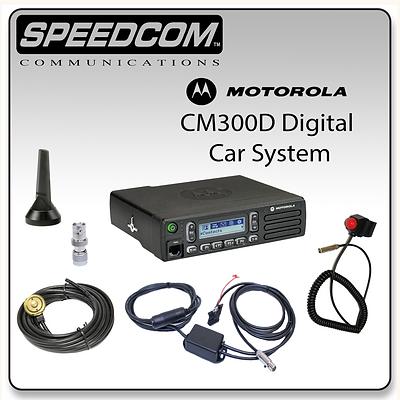 Motorola CM300D Digital Mobile System Racing Radios Antenna Car Harness