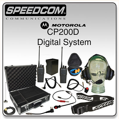 Motorola CP200D Digital Long Track System Racing Radios