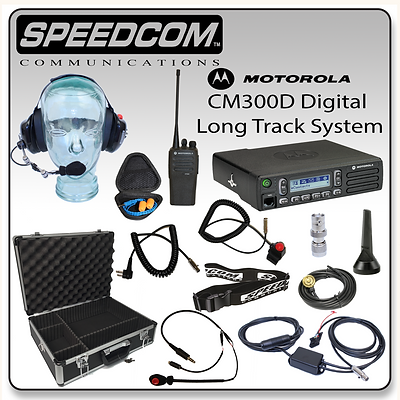 Motorola CM300D Digital Mobile Pro Long Track System Racing Radios Communication PTT