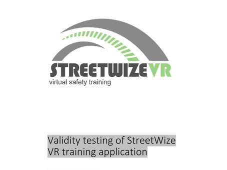 StreetWize report- Field study test results