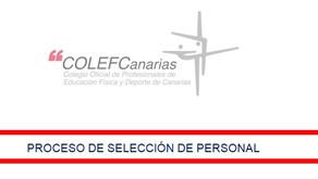 Proceso de Selección de Personal del COLEF Canarias
