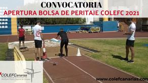 Convocatoria Bolsa de Peritaje COLEF Canarias 2021