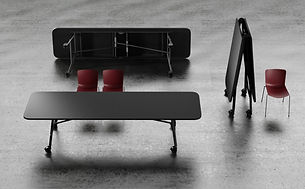 Nimble Large Conference Table, castors &