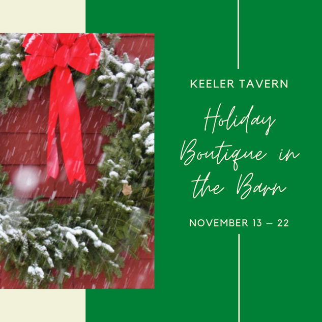 Keeler Tavern Holiday Boutique