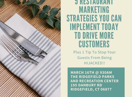 Marketing Help for Ridgefield Restaurants