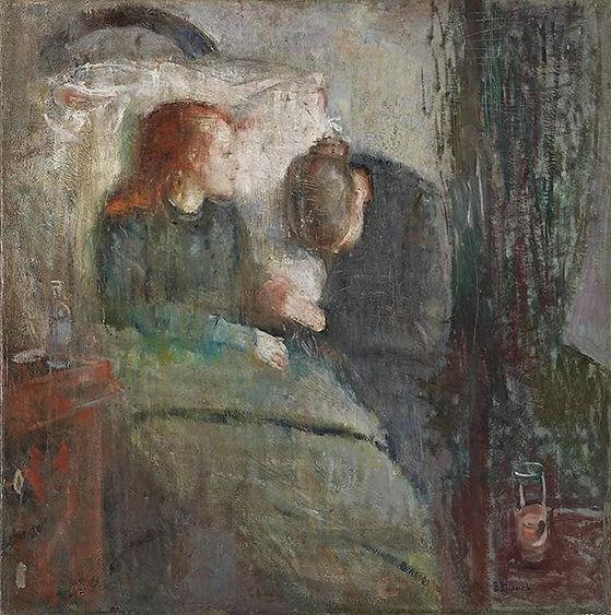 Edvard Munch, 'Hasta Çocuk', 1907