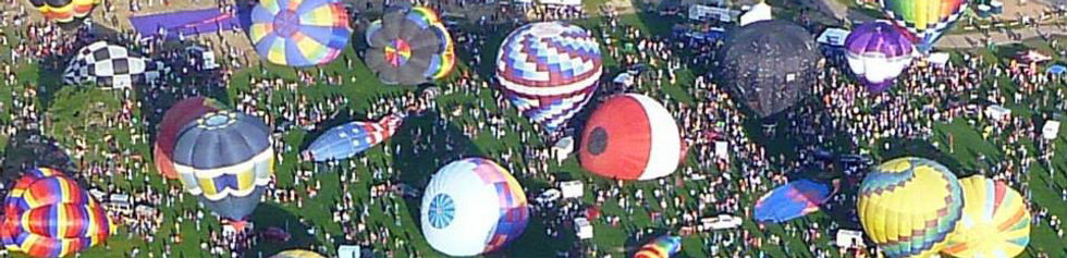 Hot Air Balloons in Forest Park, St. Louis Missouri
