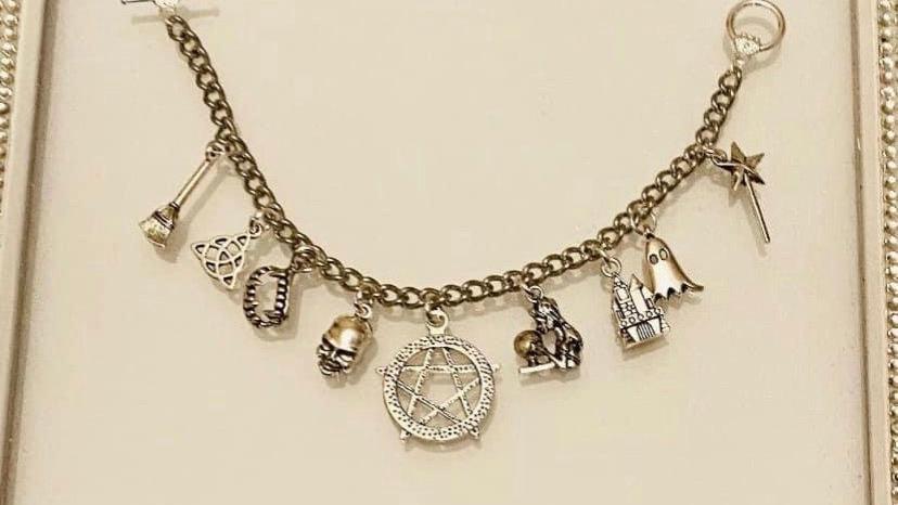 Crystal ball supernatural inspired bracelet
