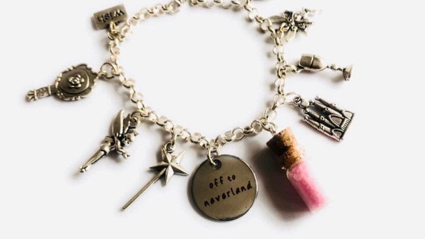 Tinker bell inspired bracelet