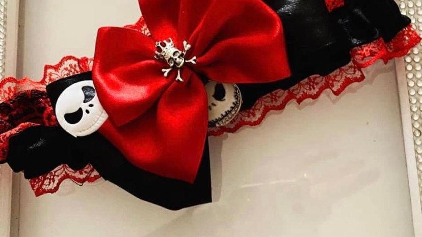 Nightmare before Xmas themed garter