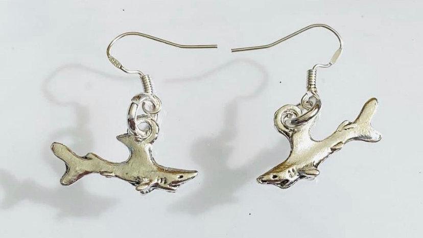 Shark earrings