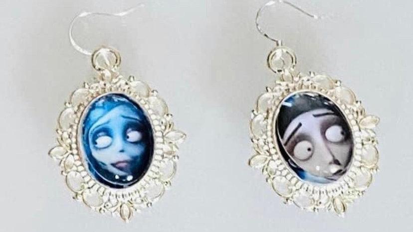 Corpse bride inspired earrings