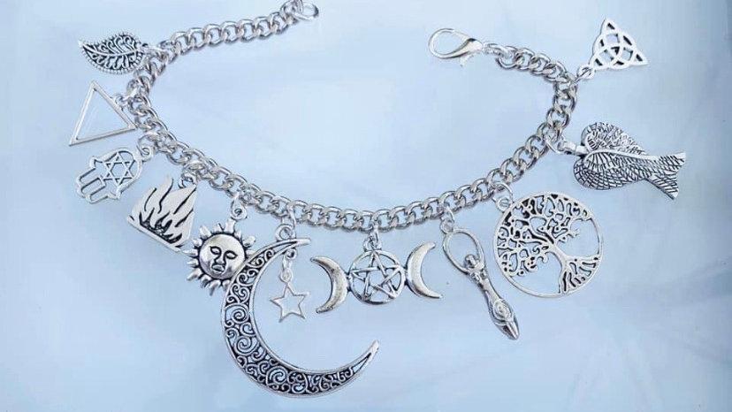 Moon goddess inspired bracelet