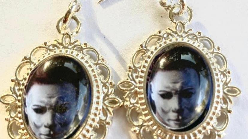 Michael Myers inspired earrings