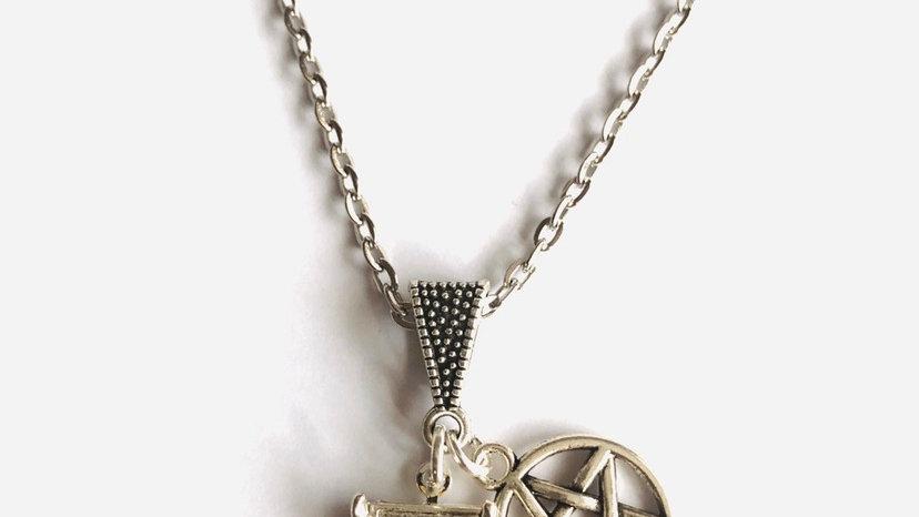 Rams head locket necklace