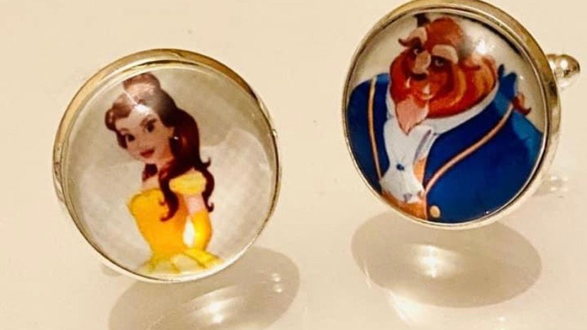 Beauty and the beast inspired cuff links