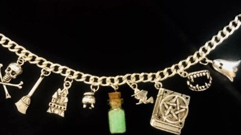 Glow in dark witch bracelet