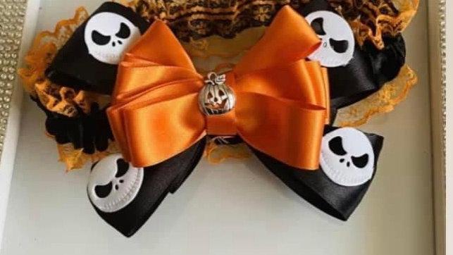 Pumpkin themed Halloween garter