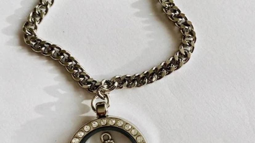 Cute teddy charm bracelet