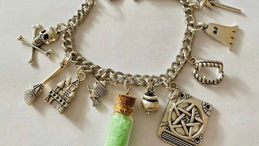 Witches spell book inspired bracelet