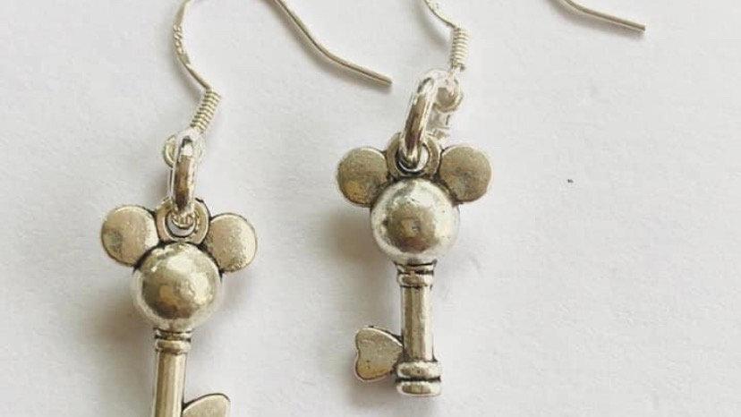 Mouse key earrings
