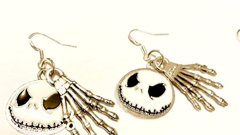 Nightmare before Xmas inspired earrings