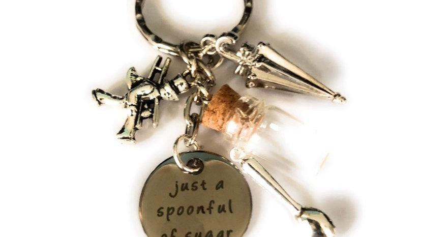 Mary poppins inspired keyring