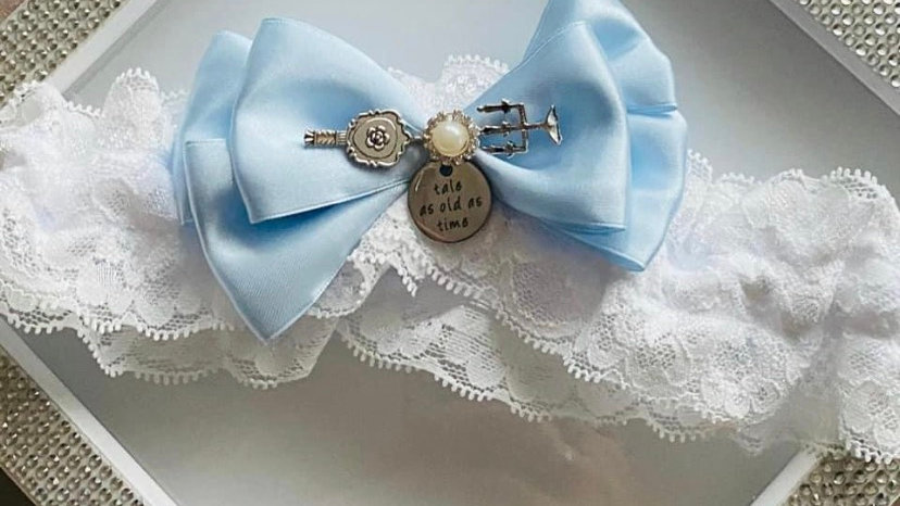 Beauty and thdd we beast themed garter