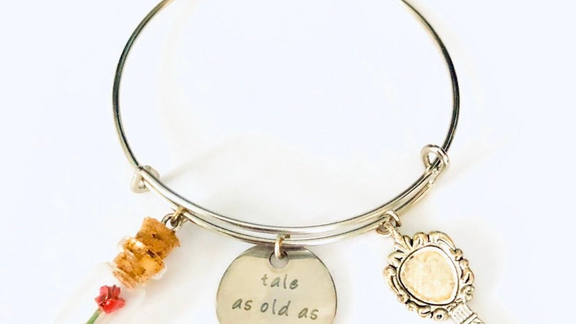Beauty and the beast inspired bangle
