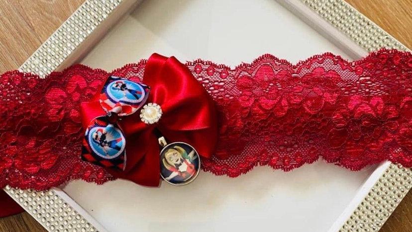 Harley Quinn inspired garter