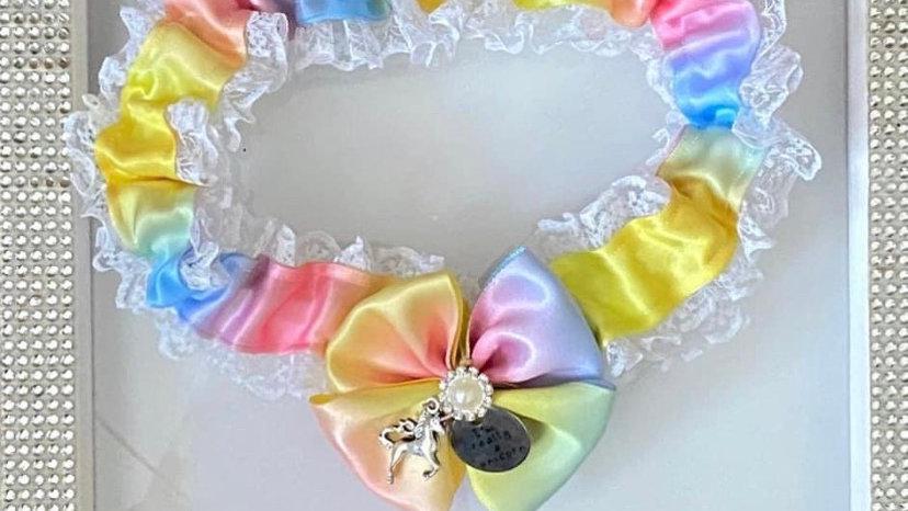 Rainbow unicorn inspired garter