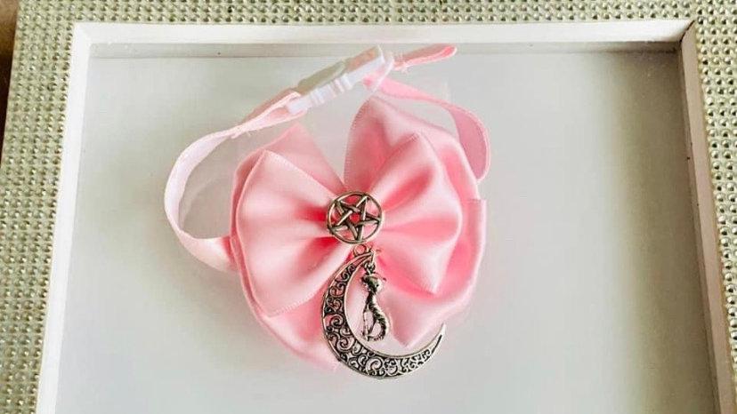 Pink supernatural cat/dog collars