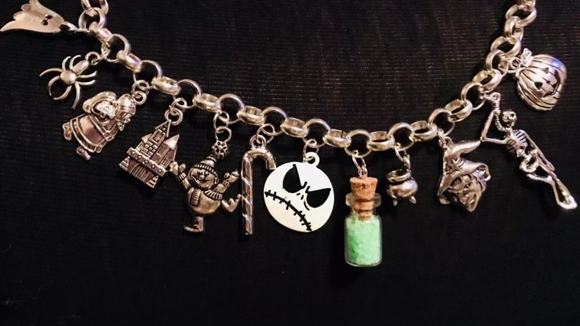 Nightmare before Xmas inspired bracelet
