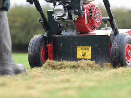 Scarifying your lawn in Spring