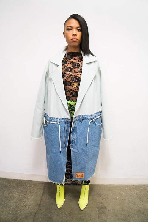 "Denim ""Jeans"" Trench"
