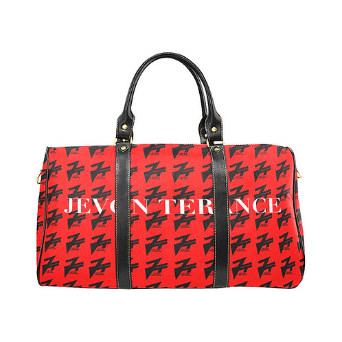 RED MONO DUFFLE