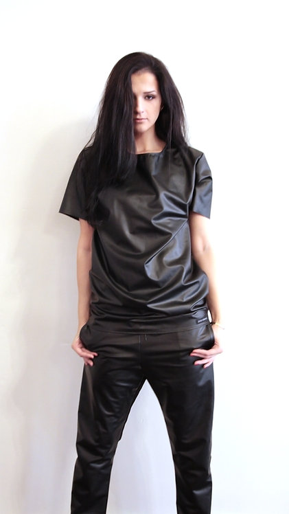 Faux Leather Unisex Tee