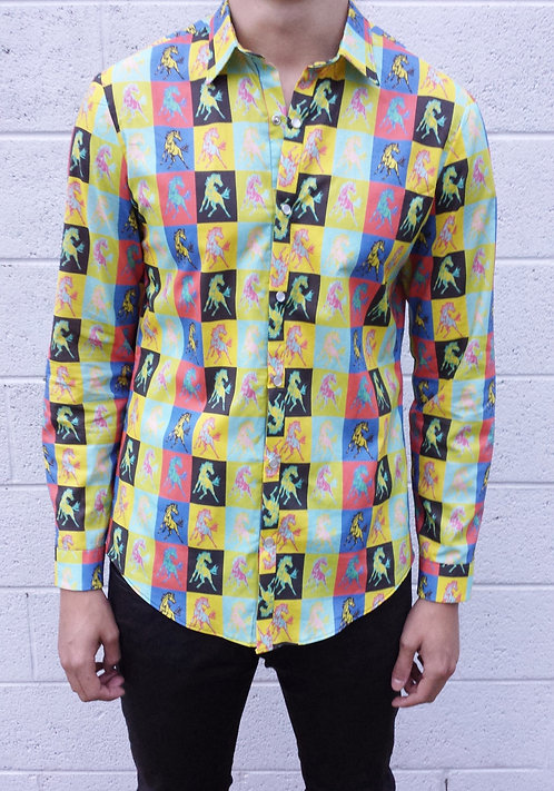 MASSON MUSTANG LONG BUTTON UP