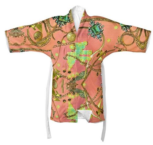 Salmon Chain Kimono