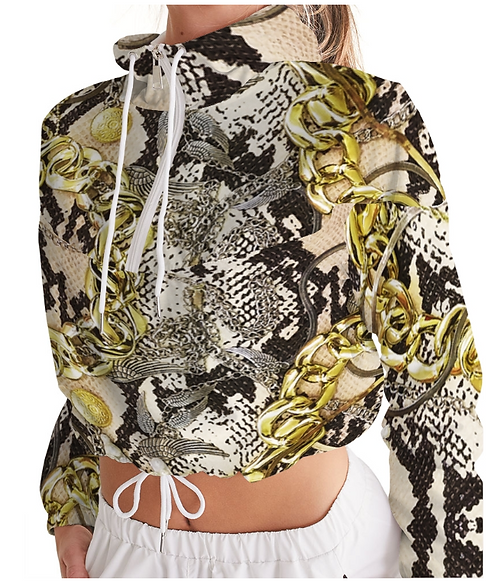 SNAKESKIN CROP WINDBREAKER