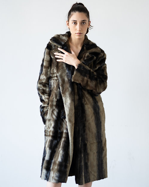 FAUX FUR TRENCH